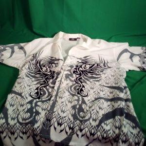 City impact white black gray w/dragon club shirt